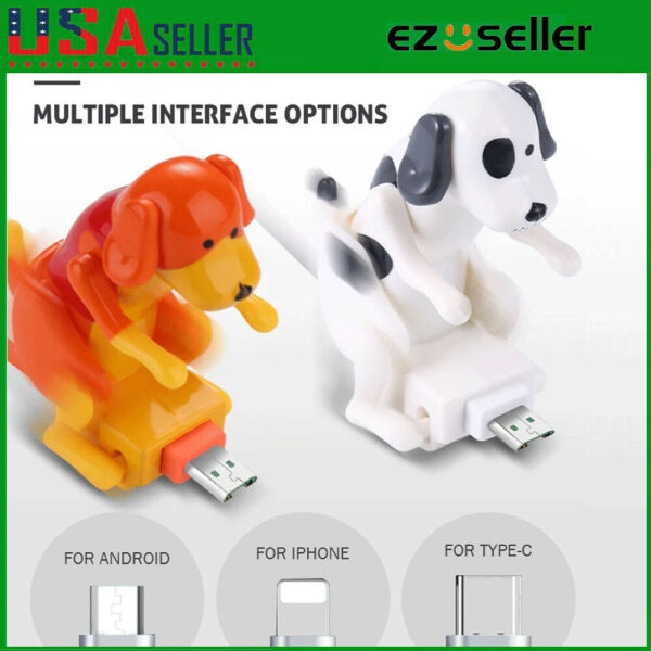 1.2M Funny Cute Humping Dog Fast Charger USB Cable For iPhone Android Smartphone $12.89