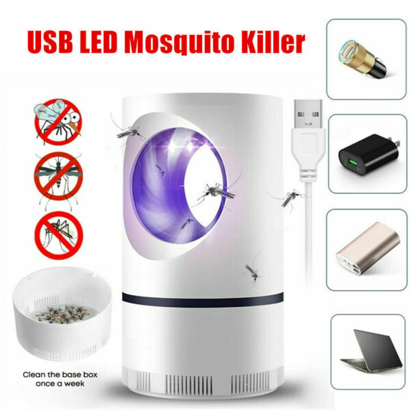 Mosquito And Flies Killer Trap Suction Fan No Zapper Child Safe Catcher Lamp