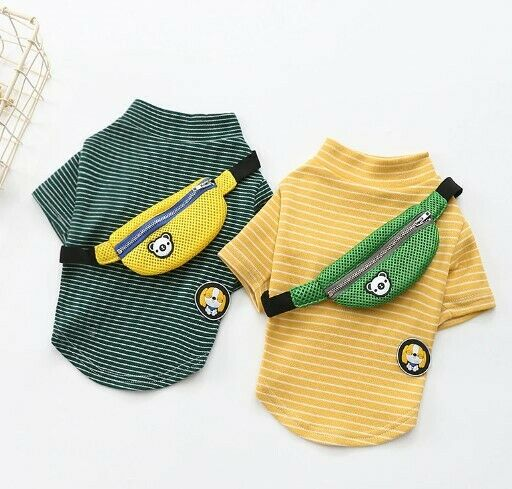 Spring Summer Pet Dog Clothing For Dogs Striped Cotton $99.99