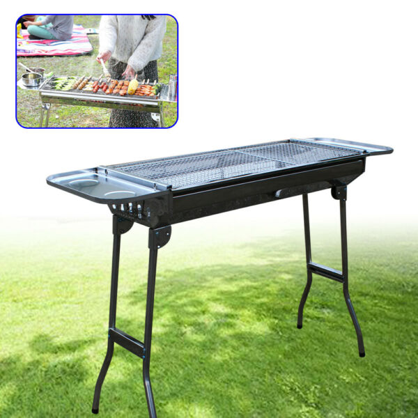 Portable Foldable BBQ Barbeque Grill Kabab Stove Outdoor Camping Picnics Grill