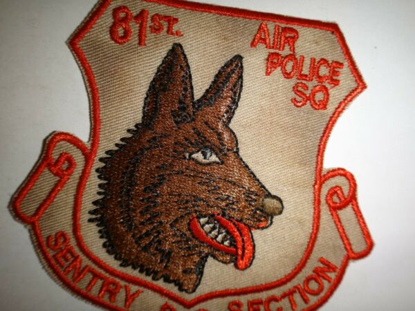 US Air Force 81st Air Police Squadron SENTRY DOG SECTION Patch $10.82