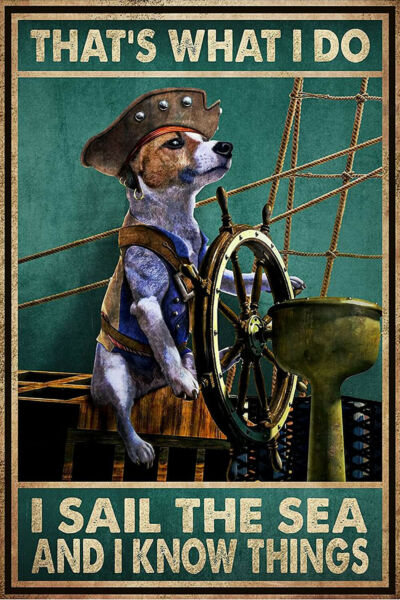 Dog that#x27;s whats I do I sail the sea and I know things poster $23.99