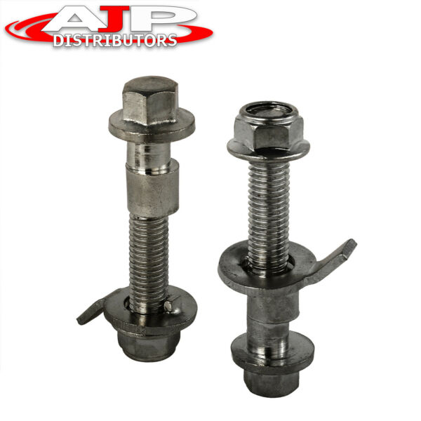 Front Suspension Adjustable Camber Kit Gray Bolt For 2002 2006 RSX DC5 Civic Si