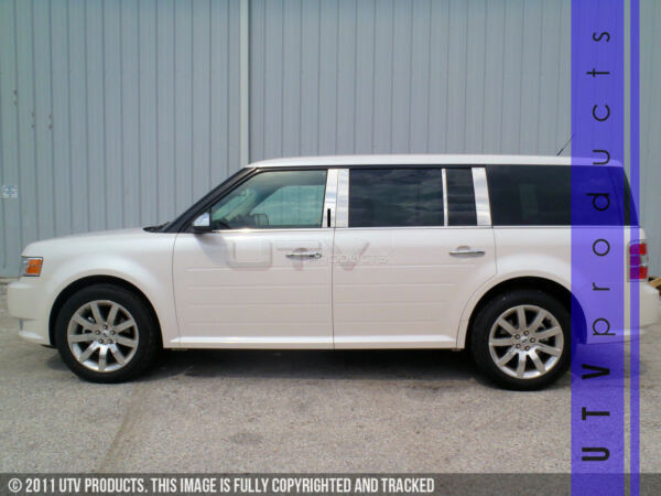 GTG 2009 2019 Ford Flex With Keyless 8PC Chrome Stainless Steel Pillars Posts $121.00