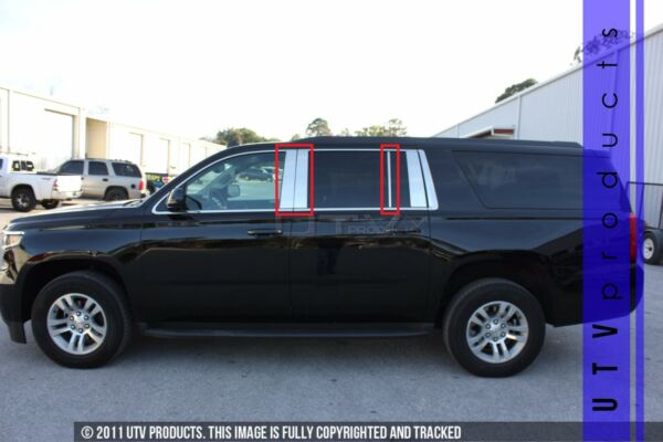 GTG 2015 2019 Chevy Tahoe and Suburban 6PC Chrome Stainless Steel Pillar Posts $92.00