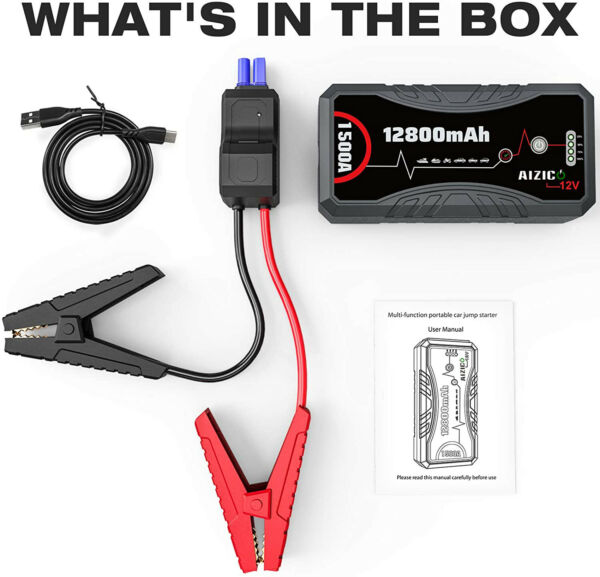 Brand New 1500A Car Jump Starter Auto Battery Charger Booster Power Bank $39.99