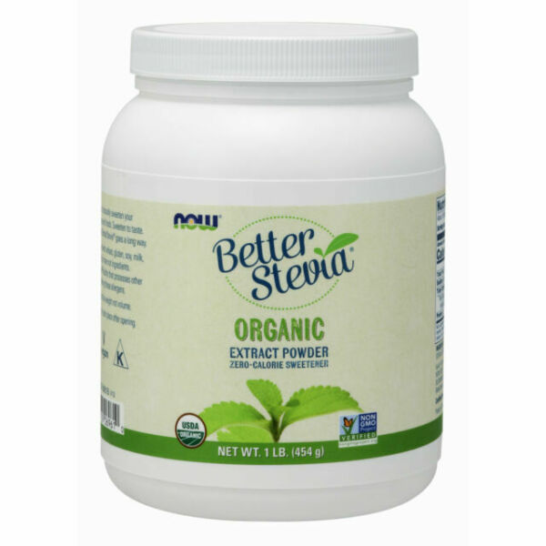 Now Foods Better Stevia Organic Extract Powder 1 Lb brand new free shipping