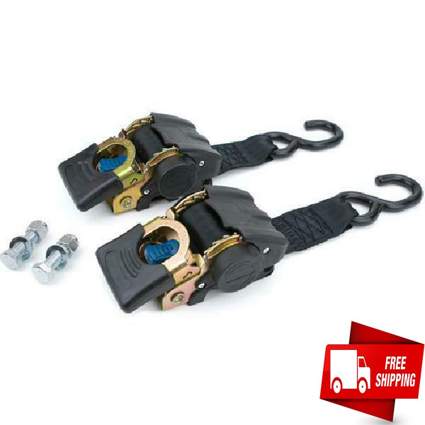 2 Pack Marine Retractable Transom Tie Down 2500lbs Boat Trailer 2 inch Strap 43quot; $42.74
