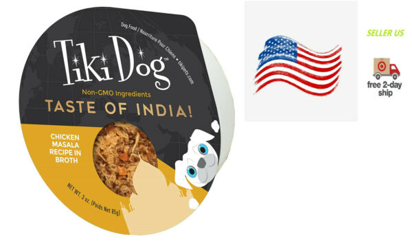 Meaty Wet Food For Dog Made To Chicken Taste India 100% Non GMO Ingredients $12.99
