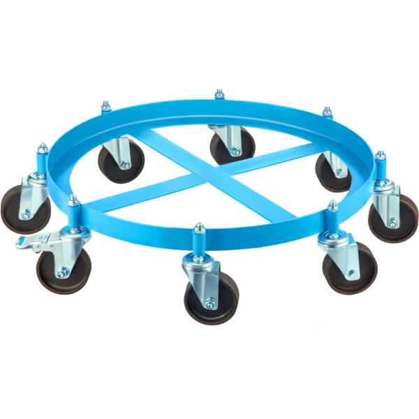 VEVOR Drum Dolly 55 Gal 8 Swivel Casters Heavy Steel Frame Easy Roll 2000 lbs $84.89
