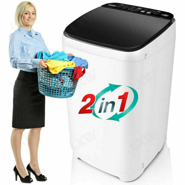 26LBS Compact Portable Washing Machine Twin Tub Spiner Laundry Washer amp; Dryer US