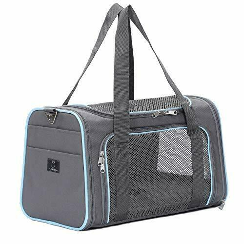 Airline Approved Cat Carrier Expandable Dog Carriers M:17.7quot;×11quot;×11quot; Gray $40.39