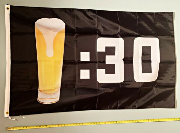 BEER FLAG *FREE SHIP USA SELLER Black Beer 30 Busch Twisted Trump USA Sign 3x5#x27;