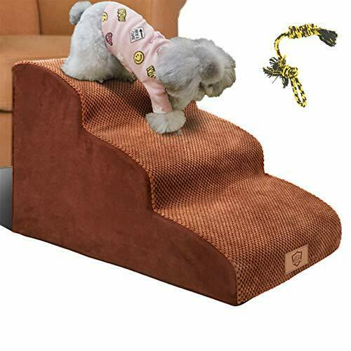 3 Tiers Foam Dog Ramps Steps Non Slip Dog Steps Extra Wide Deep Dog Stairs High $139.22