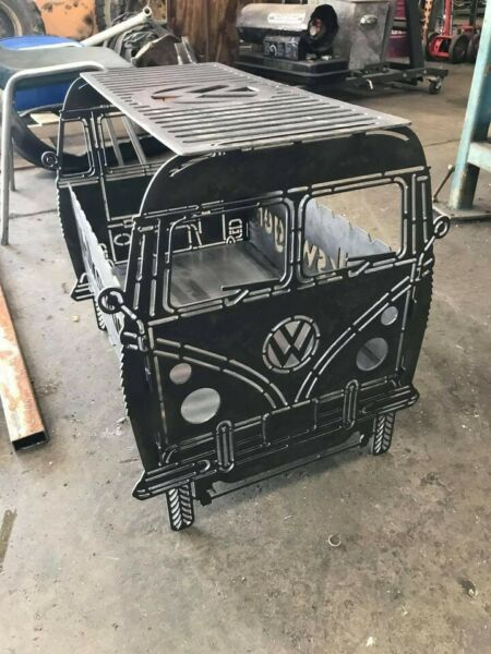 13quot; by 22quot; Rectangular Micro Volkswagen VW Bus Collapsible Wood Fire Pit Grill $300.00