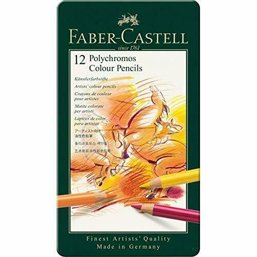 Faber Castell Polychromos Finest Artists#x27; Quality Colored Pencils 12 Pack