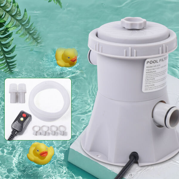 Electric Filter Pump Water Cleaning Tool Swimming Pool Above Ground US Plug 20W $44.00