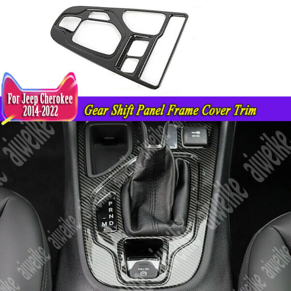 Gear Shift Panel Frame Cover Trim Carbon For Jeep Cherokee 2014 2021 Interior $39.98