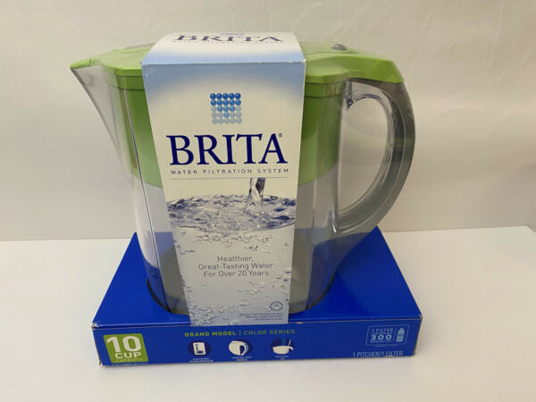 Brita 10 Cup Water Filtered Pitcher in Green BPA Free