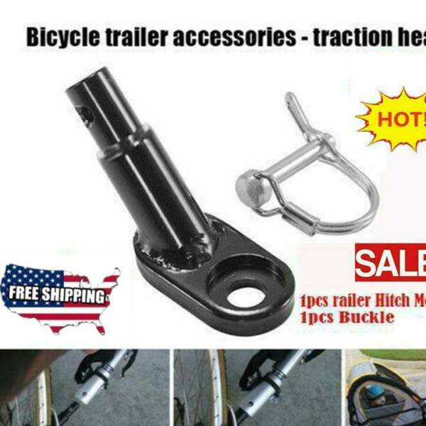 US Bicycle Bike Trailer Coupler Attachment Hitch Angled Elbow For InStep Schwinn $9.67
