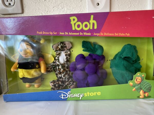 Disney Store Wiinnie the Pooh Dress Up New 4 costumes for Winnie Set $29.99