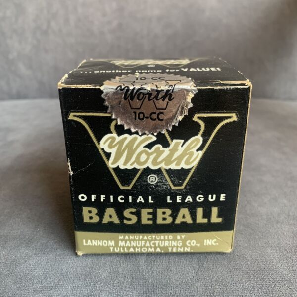 Sealed Vintage Antique WORTH 10 CC Official League Baseball Unopened in Orig Box
