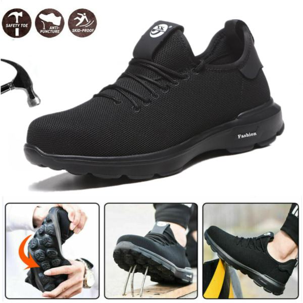 Mens Work Safety Shoes Steel Toe Cap Lightweight Boots Indestructible Sneakers $36.91