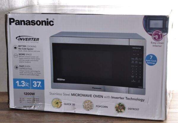 NEW Panasonic NN SC668S 1.3 cu ft Microwave Oven 1200W Stainless Steel Counter