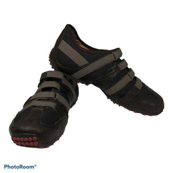 Tsubo E2 05 Mens Leather Hiking Trail Low Adjustable Stretch Shoes Black Sz 10