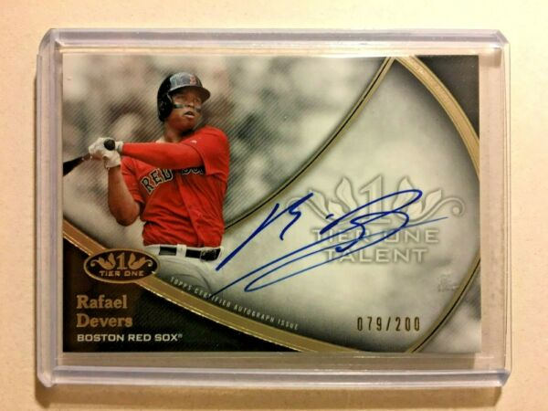 Rafael Devers AUTO # 200 Topps Tier One 2020 Certified Autograph SP Red Sox MVP $55.00