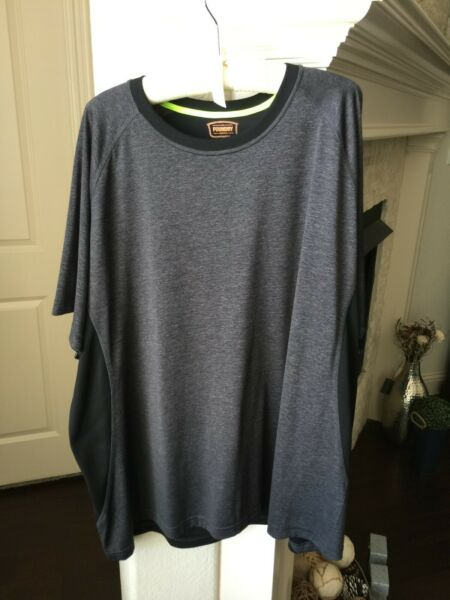 Mens The Foundry Supply Co. Charcoal Gray amp; Black Short Sleeve Shirt Size 3XL