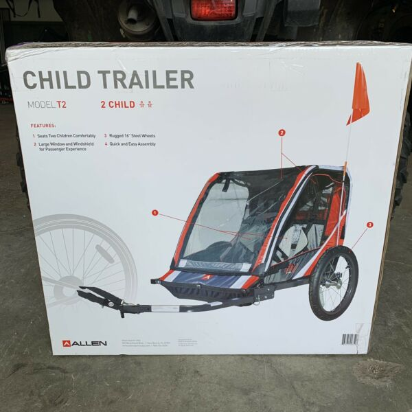 Allen Sports Deluxe Steel 2 Child Bicycle Trailer T2 Red $100.00