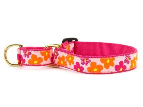 Dog Martingale Collar Up Country Made In USA Flower Power S M L XL $23.00