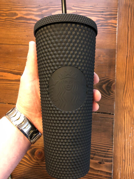 NEW Starbucks LIMITED EDITION 24 oz Matte Black Studded Tumbler Cup ONE DAY SALE