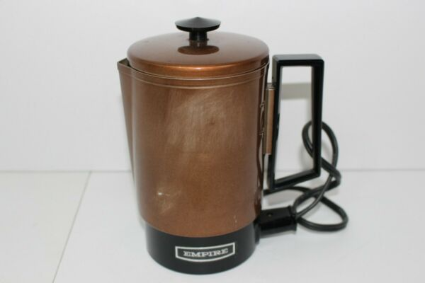Vintage Empire Travel 4 Cup Coffee Pot Percolator Camping Electric Coffee Pot