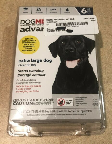 DOGMD advanced2 Ex Large Dog Flea Treatment 6 Month Over 55 lbs. $18.95