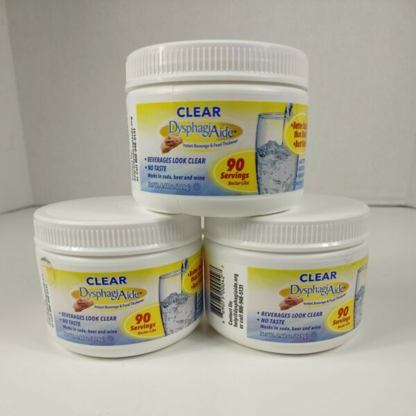 3 Clear DysphagiAide® Instant Beverage and Food Thickener Powder FREE SHIPPING $11.04