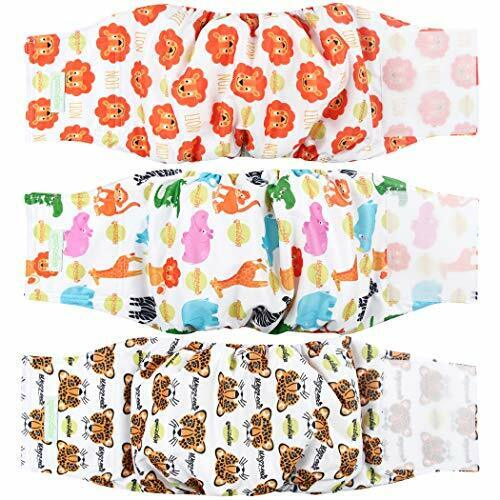 Washable Male Dog Diapers Pack of 3 Washable Male Dog Belly Wrap Super Absorbent $14.36