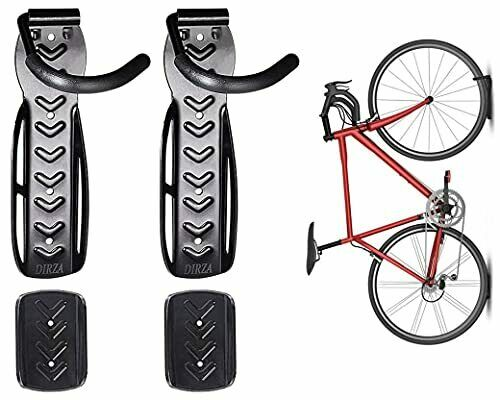 Bike Wall Mount Rack with Tire Tray Vertical Bike Storage Screws Included 2 Pack $37.33