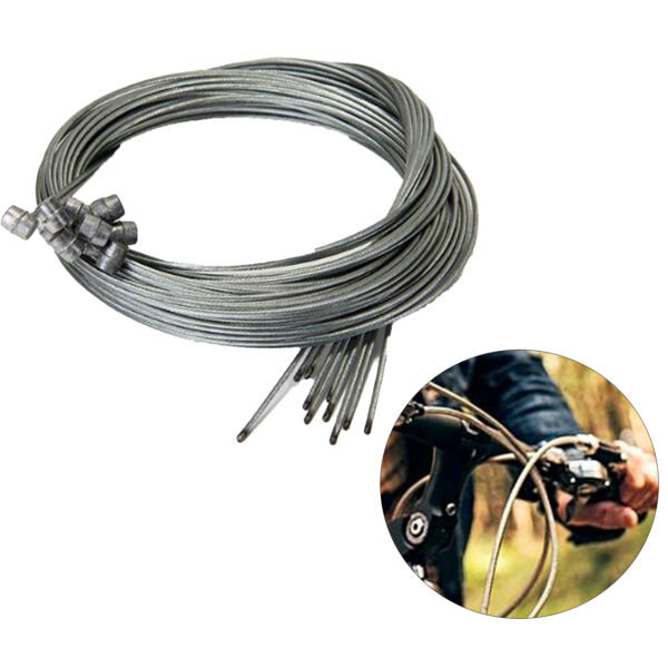 10pcs Bicycle Brake Inner Wire Cable Line Set For Front Rear Road MTB Bike Break $6.99