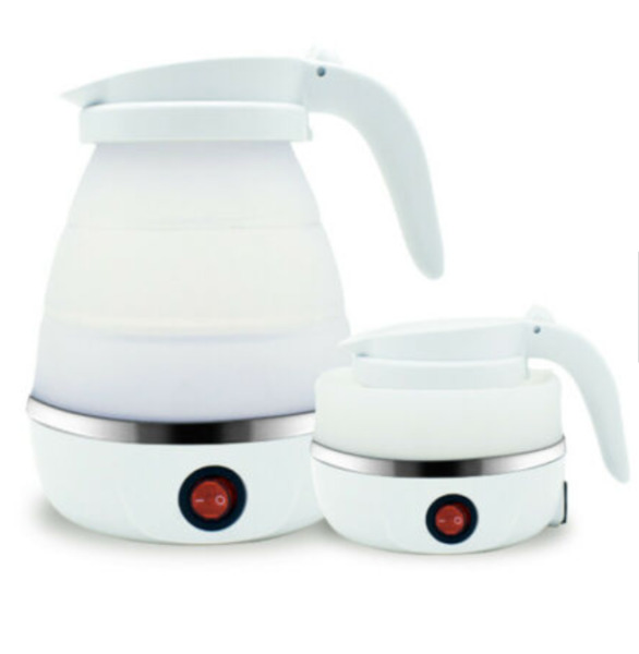 Foldable Silicone Electric Water Kettle Travel Water Boiler Camping Kettle 600ml $24.00