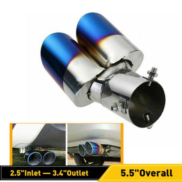 Car Rear Exhaust Pipe Tail Muffler Tip Auto Accessories Replace Kit Blue OXILAM $19.99