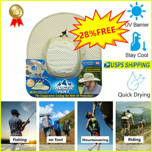 Arctic Hat Evaporative Cooling Hat as Seen On TV with UV Protection Comfortable $13.97