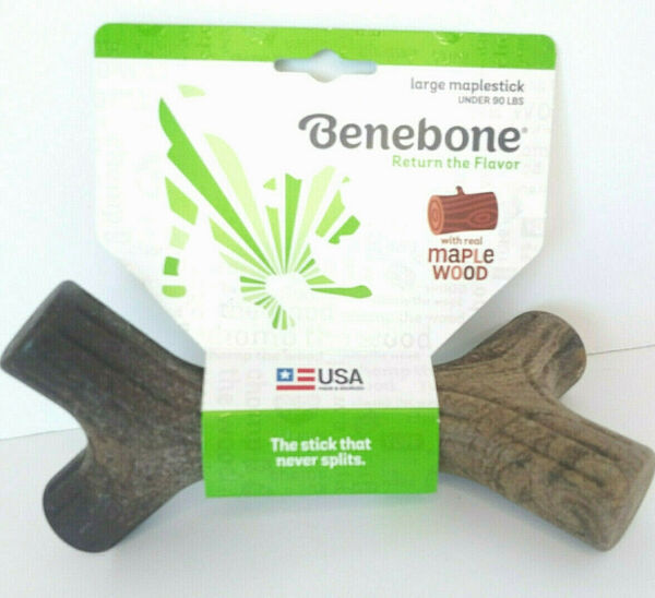 Benebone Large Maplestick Durable Dog Chew Toy Made in USA $22.99