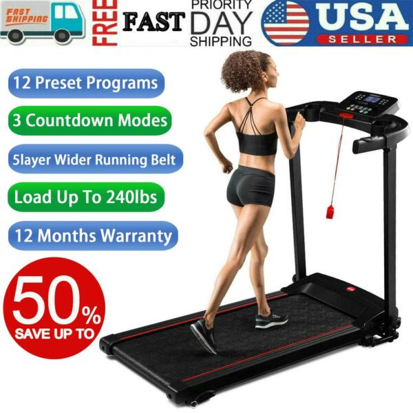 Treadmill Foldable Electric Motorized Power Home Gym Running Fitness Machine $229.00