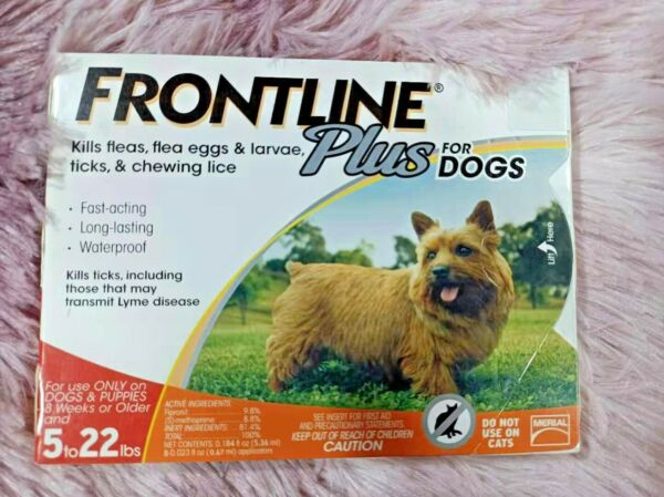FRONTLINE Plus Dog Flea and Tick Treatment Small Dogs 5 22 lbs 3 Doses $22.00