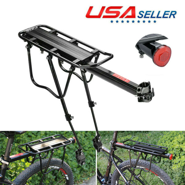 Rear Bike Rack Cycling Cargo Rack Quick Release Luggage Carrier 110 LBS Capacity $19.99
