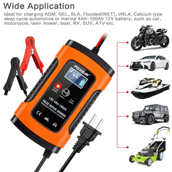 12V Car Battery Charger Maintainer Auto Trickle RV for Tender Truck Motorcycle $18.91