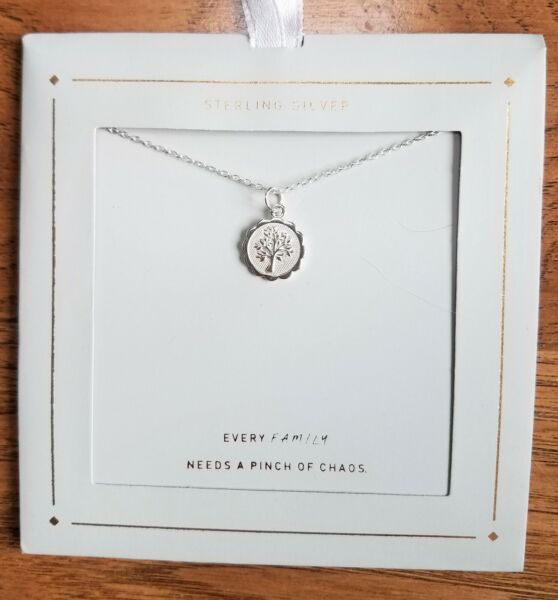Sterling Silver Family Tree Necklace Silver
