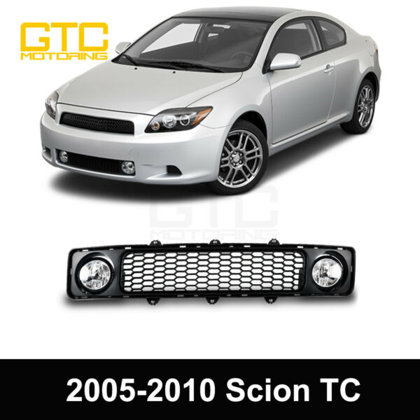 For 2005 2010 Scion tC Grille with Fog Lights Clear Lens Wiring Switch Kit $56.85